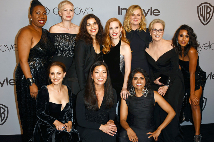 Image from 2018 Golden Globes, actresses and activists