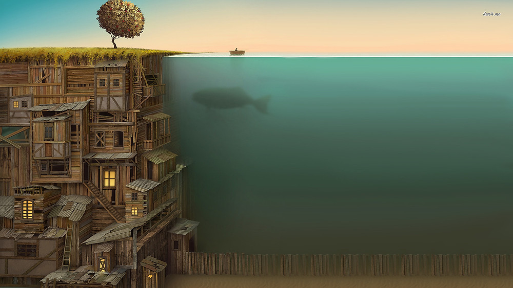 """Underwater City"" es.forwallpaper.com"