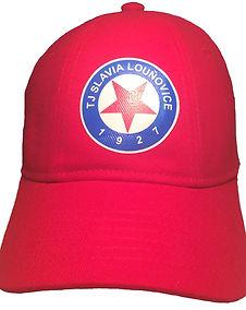 Slavia Louňovice kšiltovka červená