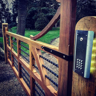 Now that's a gate !!_#electricgate #land