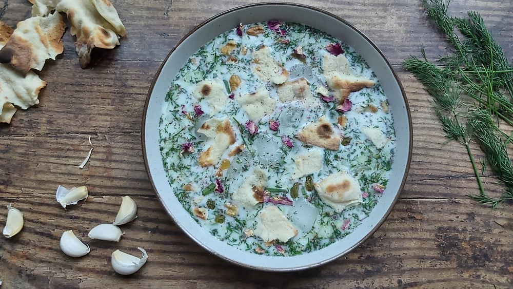 AbDough Khiar - Cold Yogurt Soup