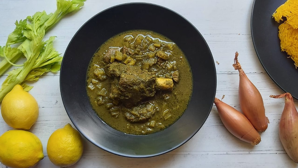 Celery and Lamb Stew - Khoresht-e-Karafs