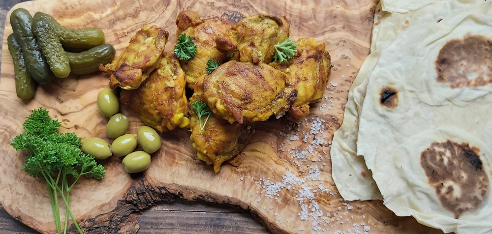 Persian Chicken Kebab with Lavash Bread