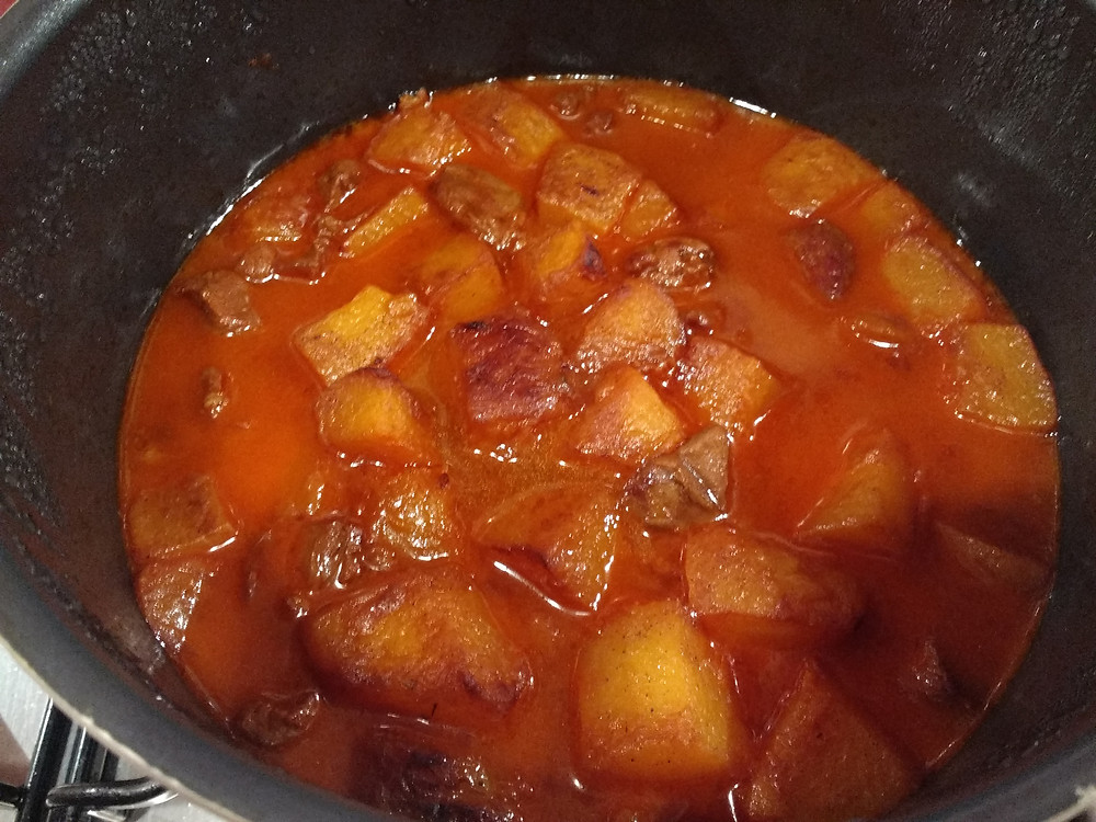 Pumpkin and lamb stew - Khoresht-e-Kadoo Halvaie ba goosht
