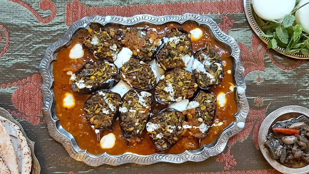 Dolmeh - Persian stuffed Eggplant