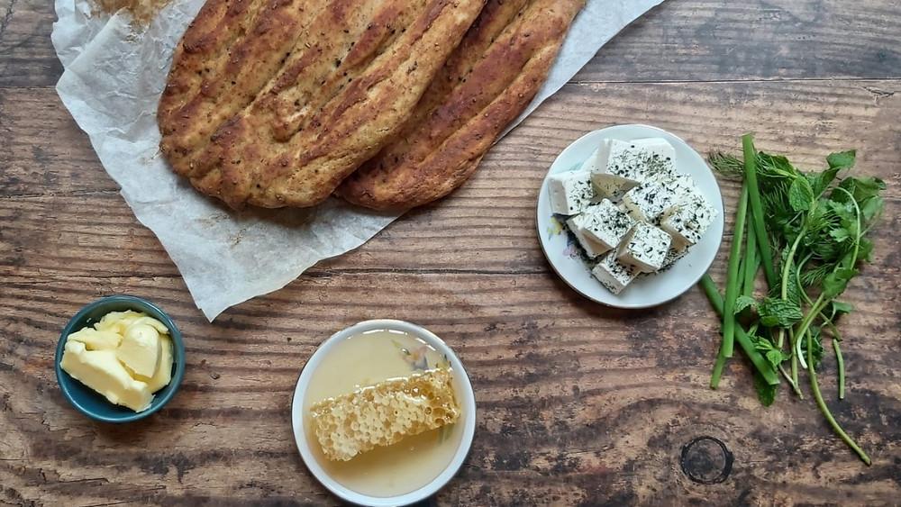 Persian Barbari Bread