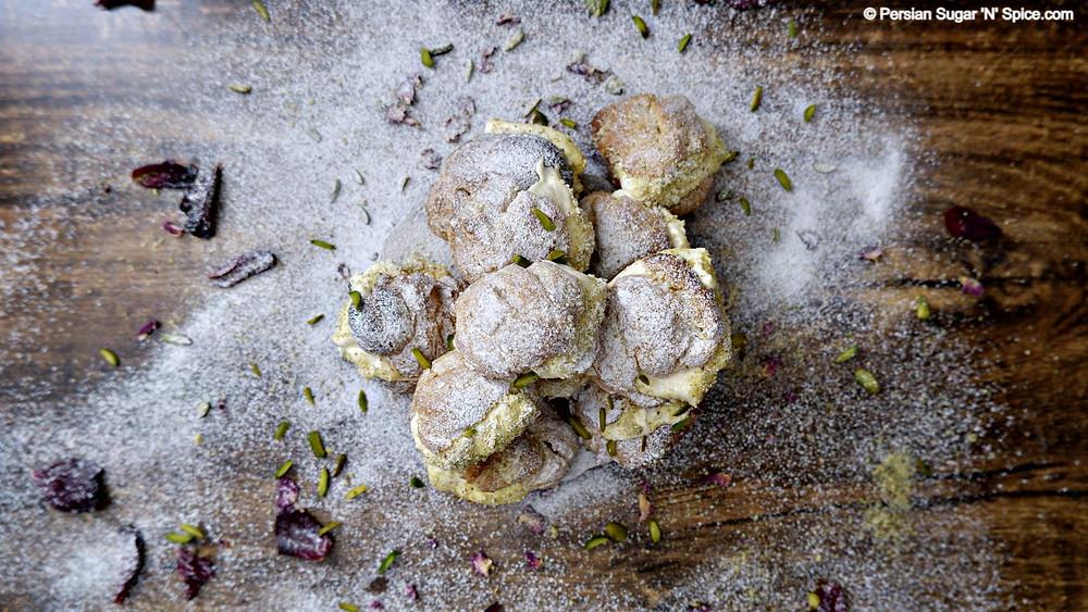 Persian Cream Puffs - Naan Khamei