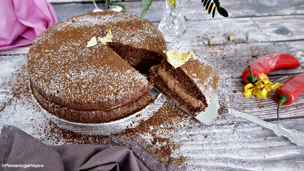 Chocolate Chilli & Cardamom Cake