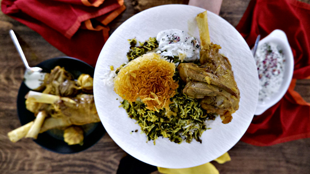 Broad Bean Rice with Lamb Shank - Baghali Polo ba Mahiche