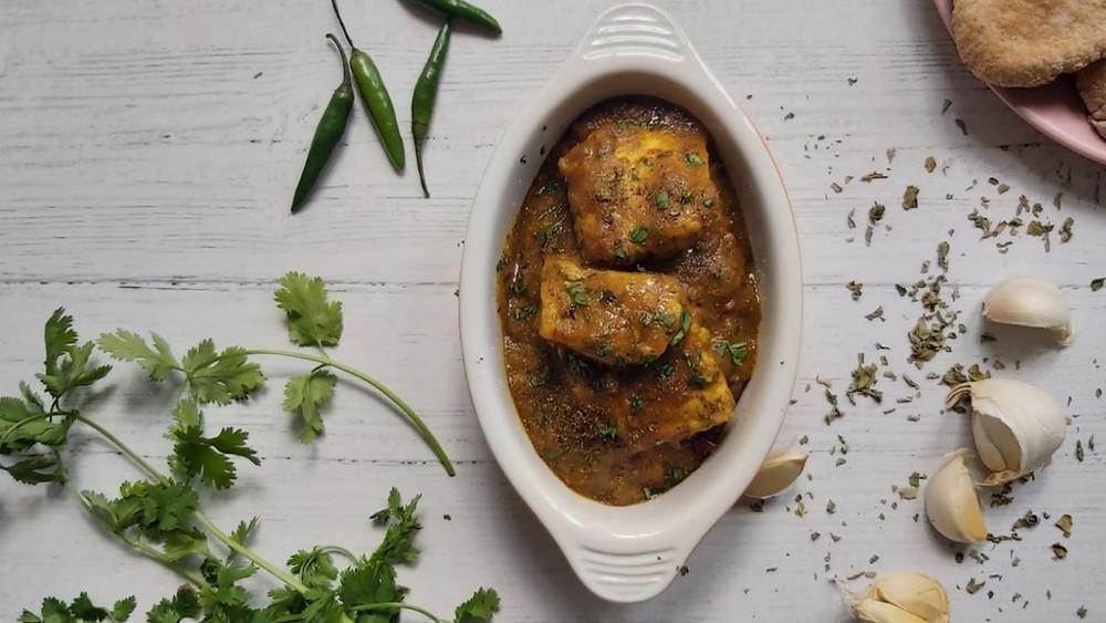 Fish Stew with Chillies and Tamarind- Naroosht Mahee