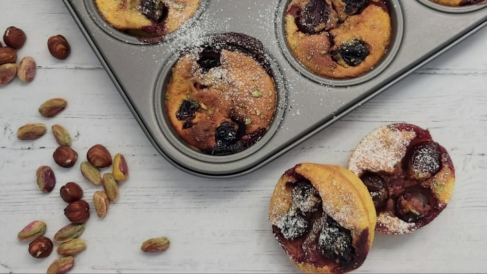 Persian Cherry Clafoutis with saffron and cardamom