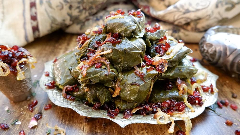 Dolmeh - Persian Stuffed Vine Leaves