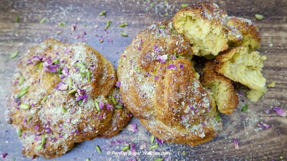 Naan-e-Shirmal - Sweet Milk Coated Bread