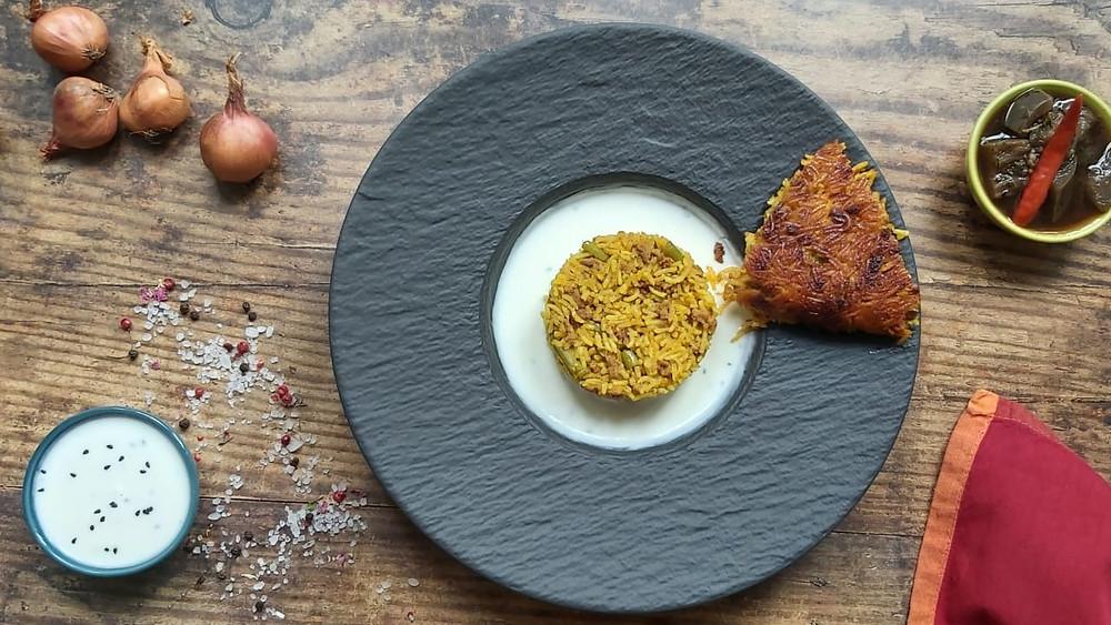 Broad bean & Minced Lamb Pilaf - Loobiya Polo