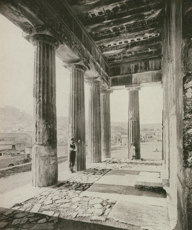 Old Picture of Temple of Hephaestus