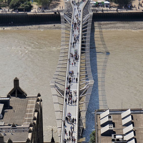Why the Millennium bridge experienced unexpected swaying?