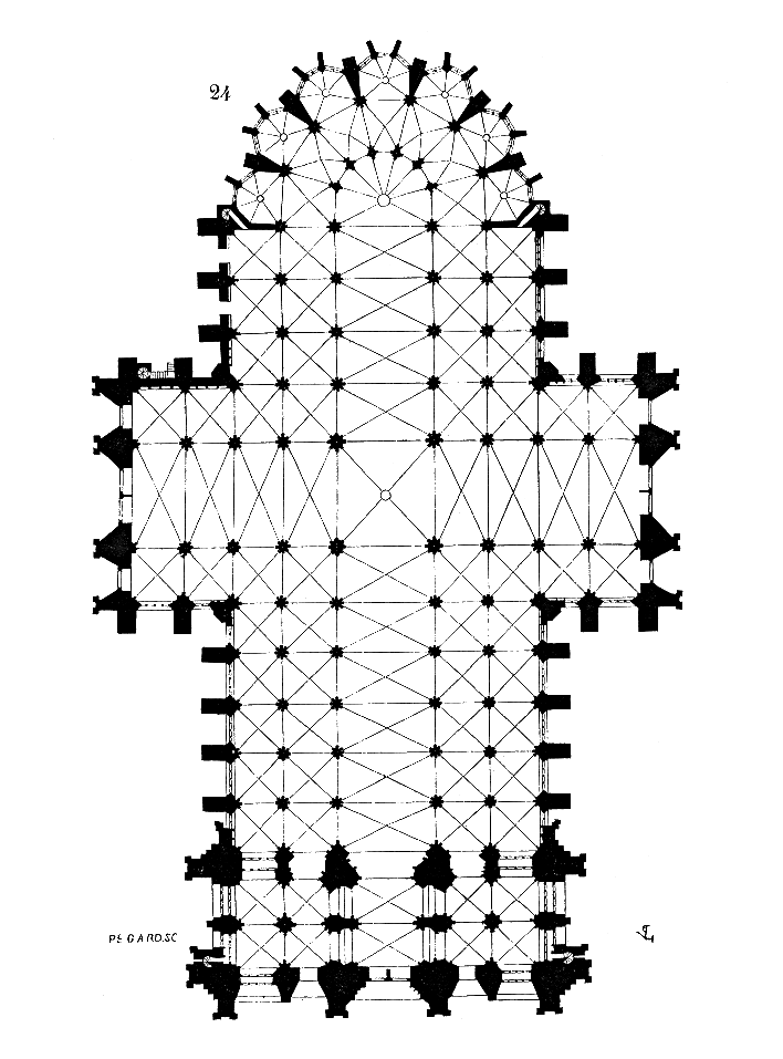 Cologne Cathedral Plan View
