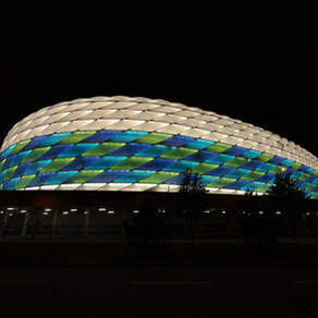 Munich: Allianz Arena - the stadium fully clad with ETFE cushions