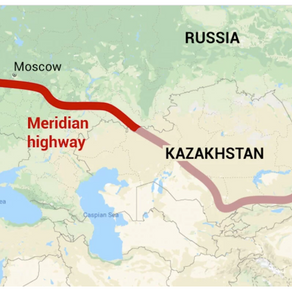 New £7.5 billion Meridian Highway connecting Europe with China was approved by Putin