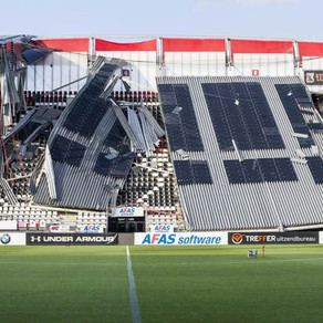 AZ Alkmaar FC, stadium roof collapses amid high-speed winds in the Netherlands  🏟 ⚽️ 🇳🇱