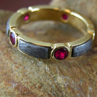 Meteorite and Ruby band