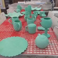 Ceramics ready for the kiln!!