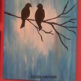 birds canvas
