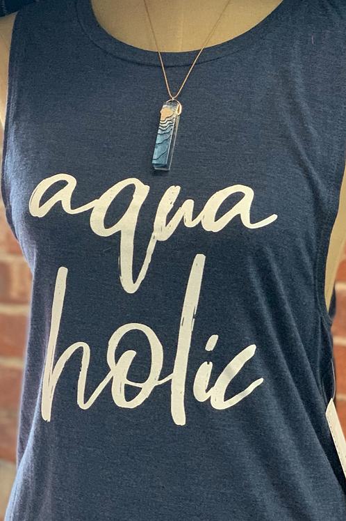 Aqua Holic Muscle Navy Tee