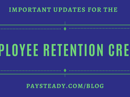 Important Updates for the Employee Retention Credit