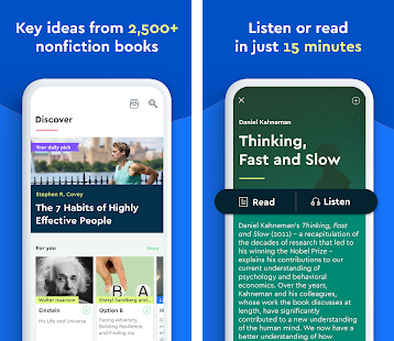 Blinkist - big ideas in 15 min reads
