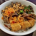 B8. Bun Thit/Ga Nuong, Tom, Cha Gio (Grilled Pork or Chicken with Shrimp and Spring Roll Vermicelli)