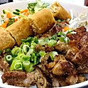 B5. Bun Ga Nuong Cha Gio (Grilled Chicken and Spring Roll Vermicelli
