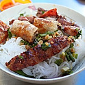 B9. Bun Ga/Thit Nuong Nem Nuong, Cha Gio (Grilled Pork or Chicken with Vietnamese Sausage, and Spring Roll Vermicelli)
