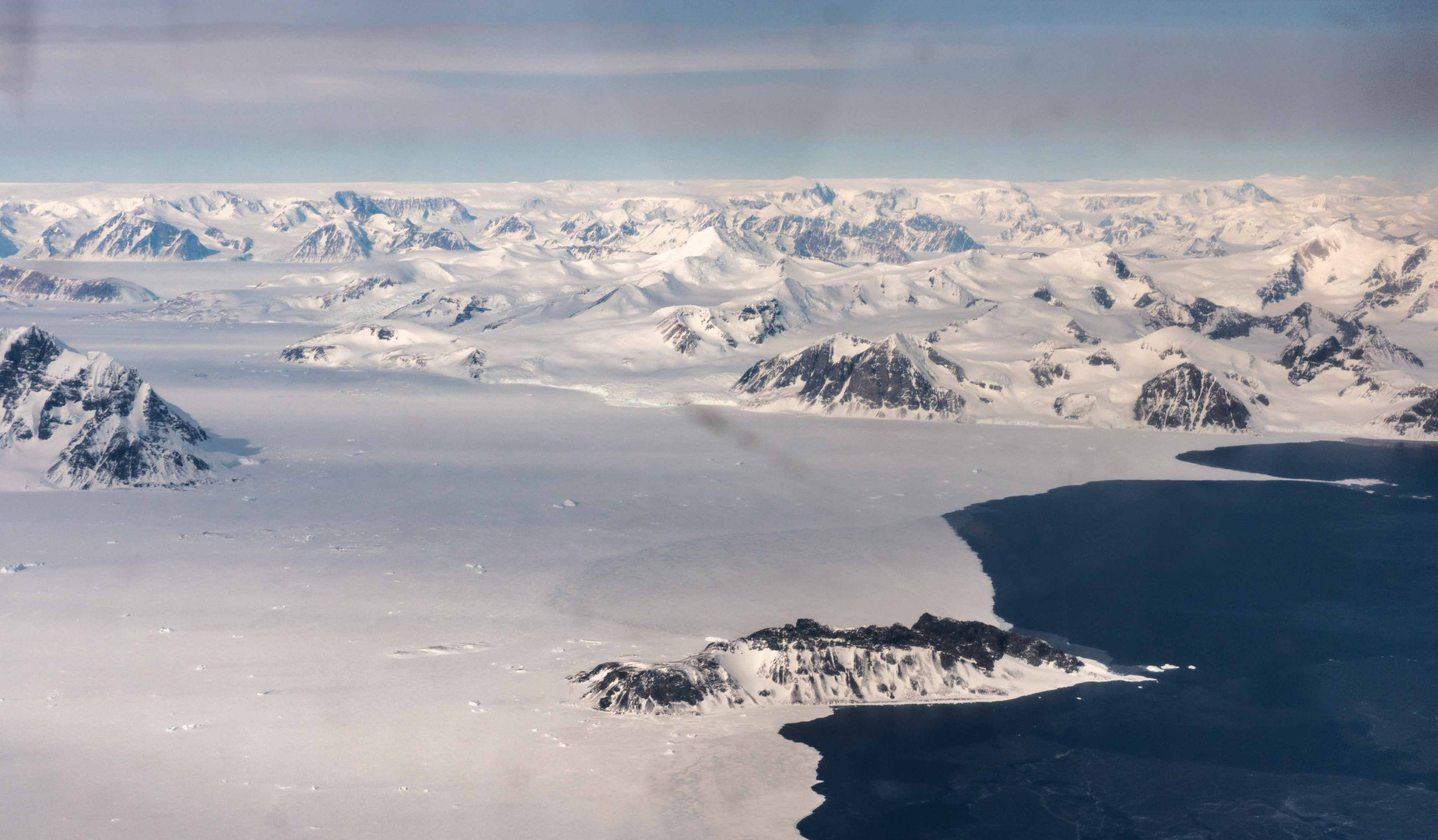 First view of the Antarctic Peninsula