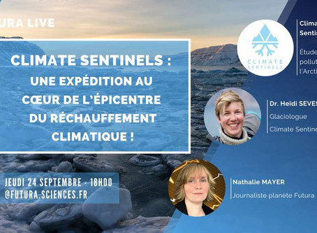 Live presentation of Climate Sentinels