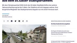 Kritische Fragen zum Fahrplanwechsel aus dem St.Galler Stadtparlament