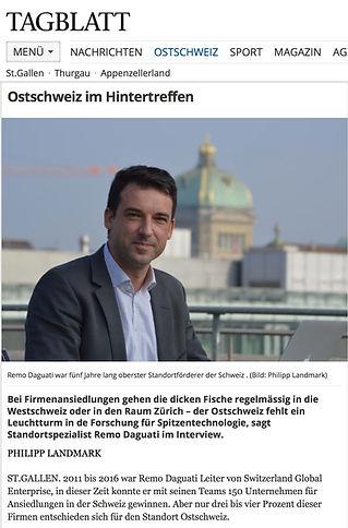 Interview St.Galler Tagblatt Ostschwez