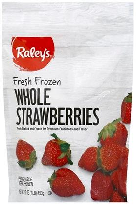 RALEY'S Frozen Fruit Whole Strawberries 16oz