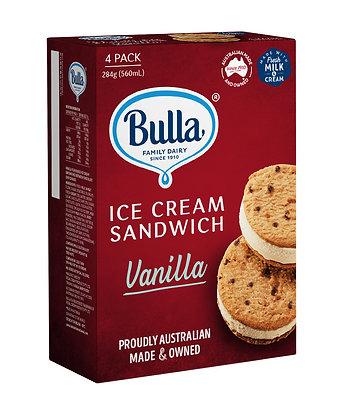 BULLA Ice Cream Sandwich 4 pack 560ml