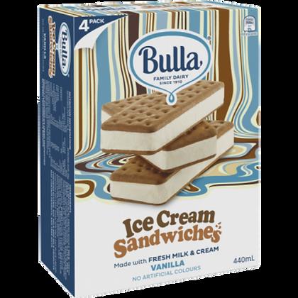 BULLA Ice Cream Sandwiches 4pack 440ml