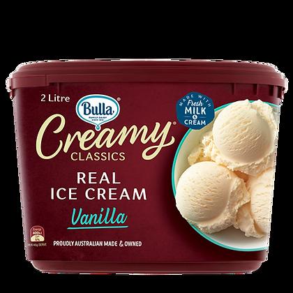 BULLA Creamy Classics Ice Cream 2L