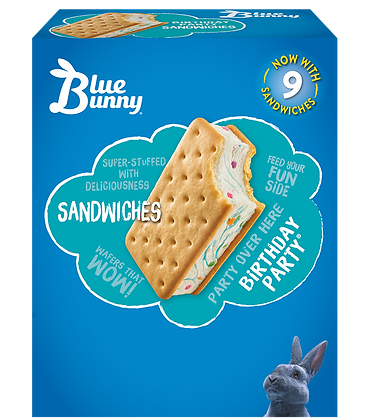 BLUE BUNNY Ice Cream Sandwiches 9pack