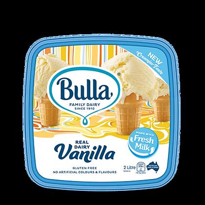 BULLA Reduced Fat Ice Cream 2L