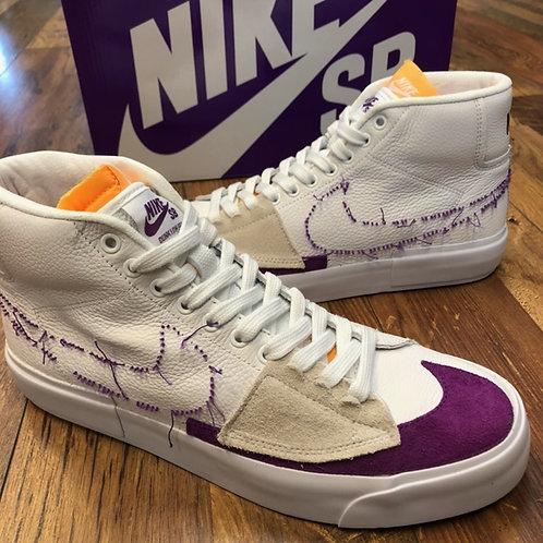 Nike SB Blazer Mid Zoom Edge white/viotech white
