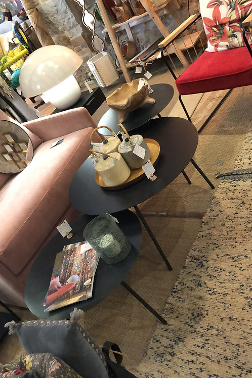 tables basses s/3 en acier