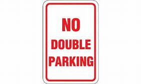 Double parking sign in New York City