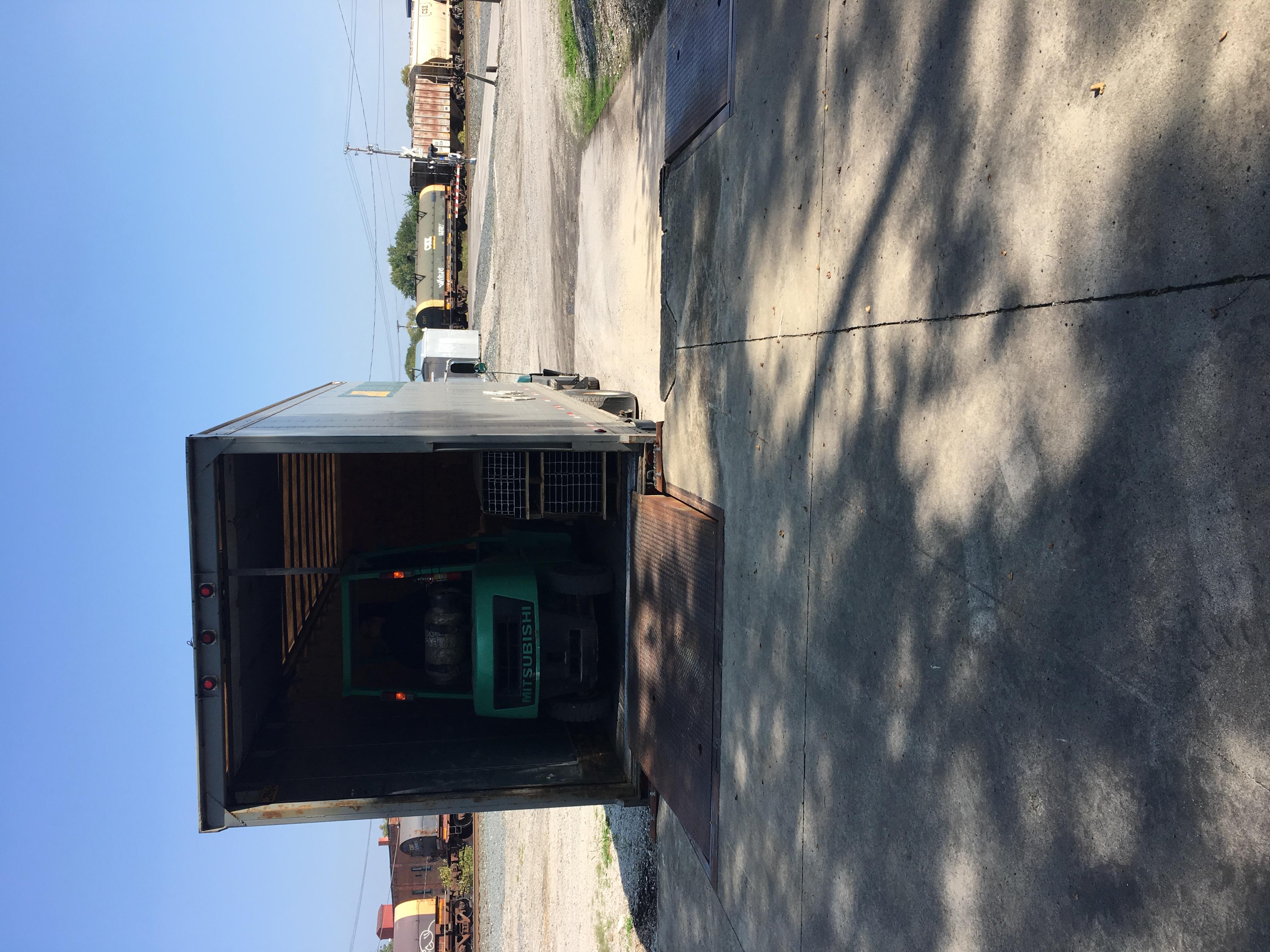 forklift in trailer for rlc