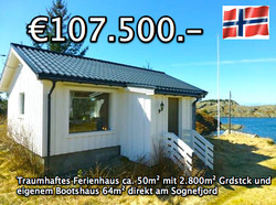 Ferienhaus direkt am Fjord