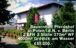 Bauernhof/Pferdehof in Polen 270m²Wf