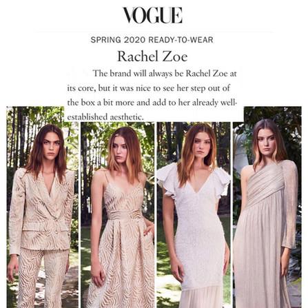 Rachel Zoe x Vogue Spring 2020